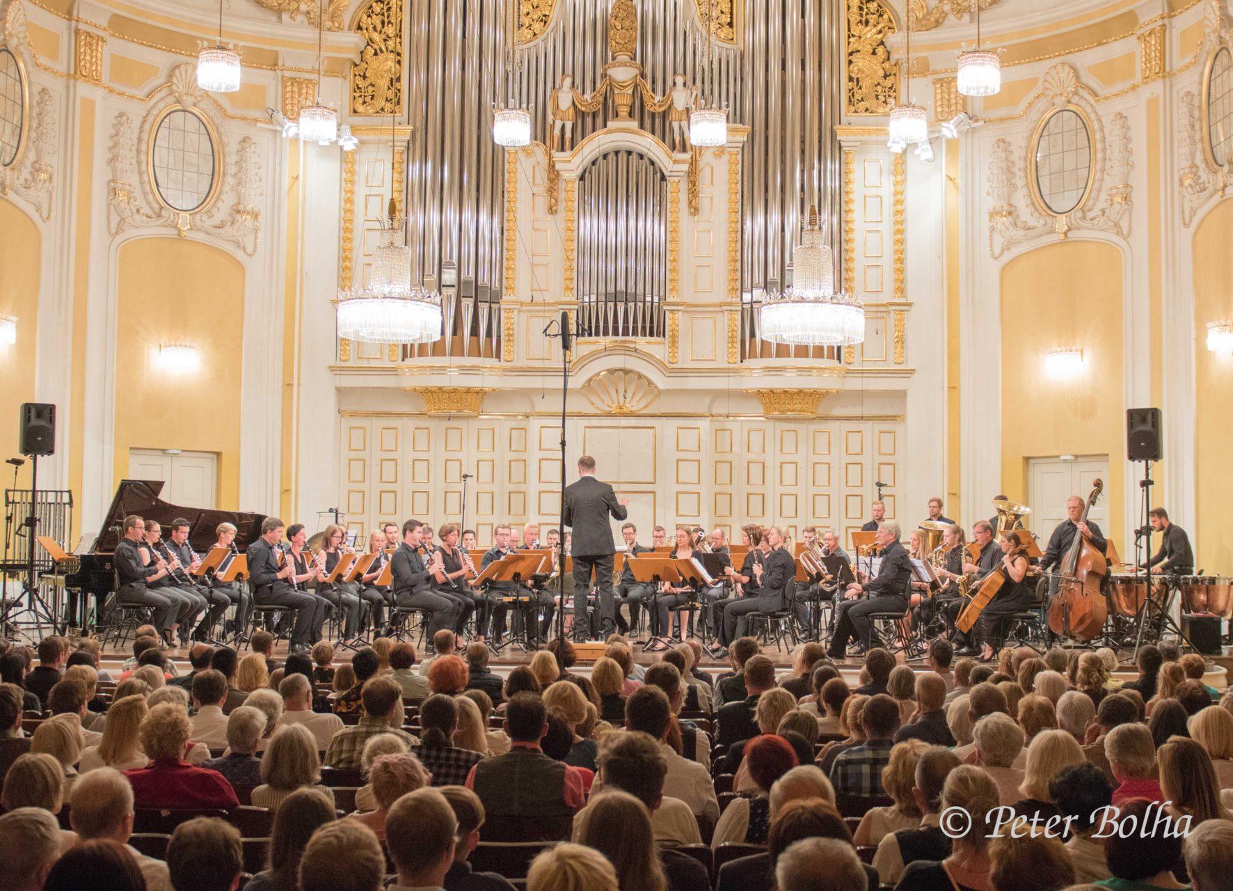 Biosphären Blasorchester LuNo Winds beim Fest zur Salzburger Festspieleröffnung